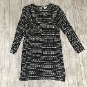 H&M Black and cream shift dress